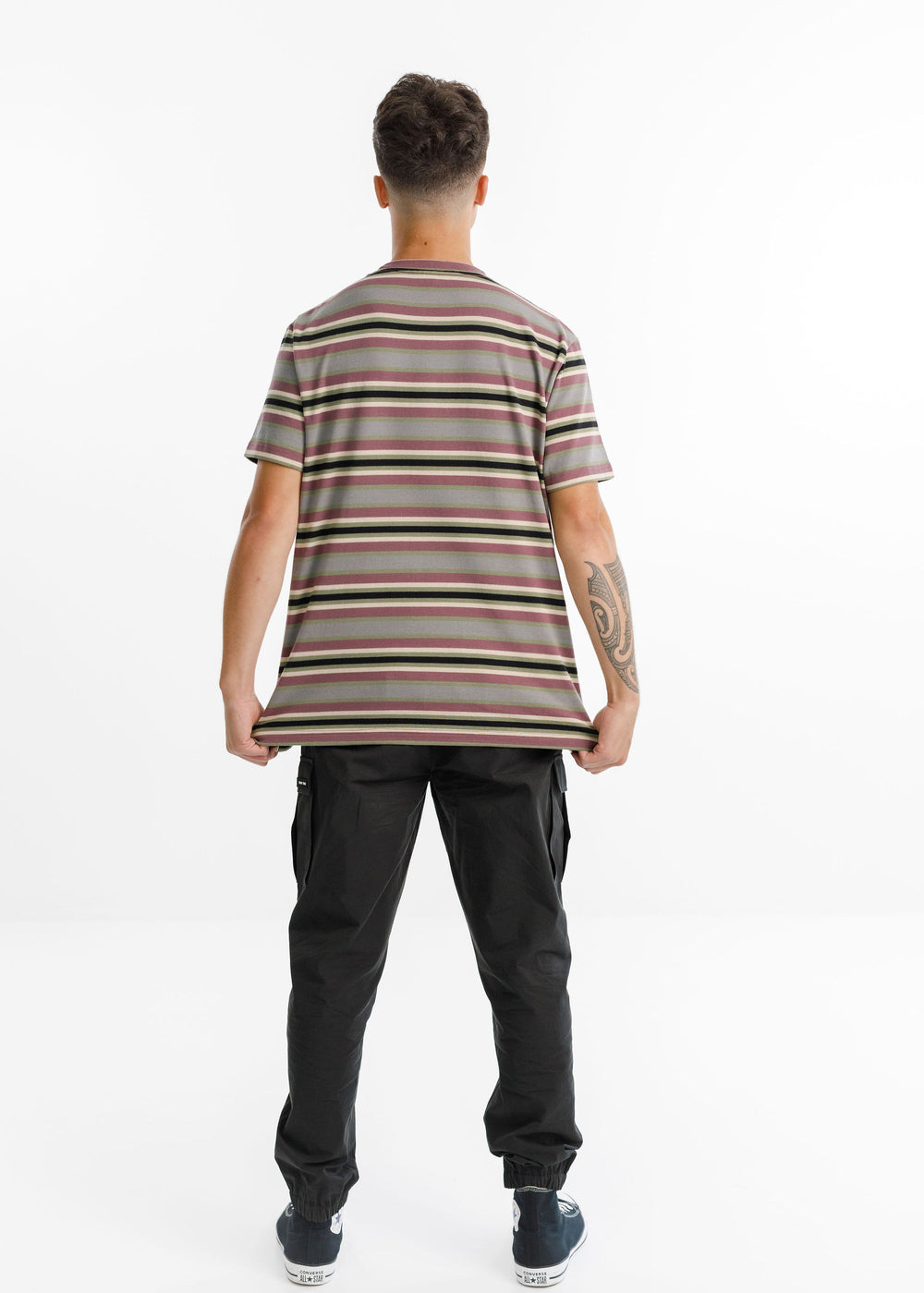 MAX POCKET TEE - Mossey Stripe