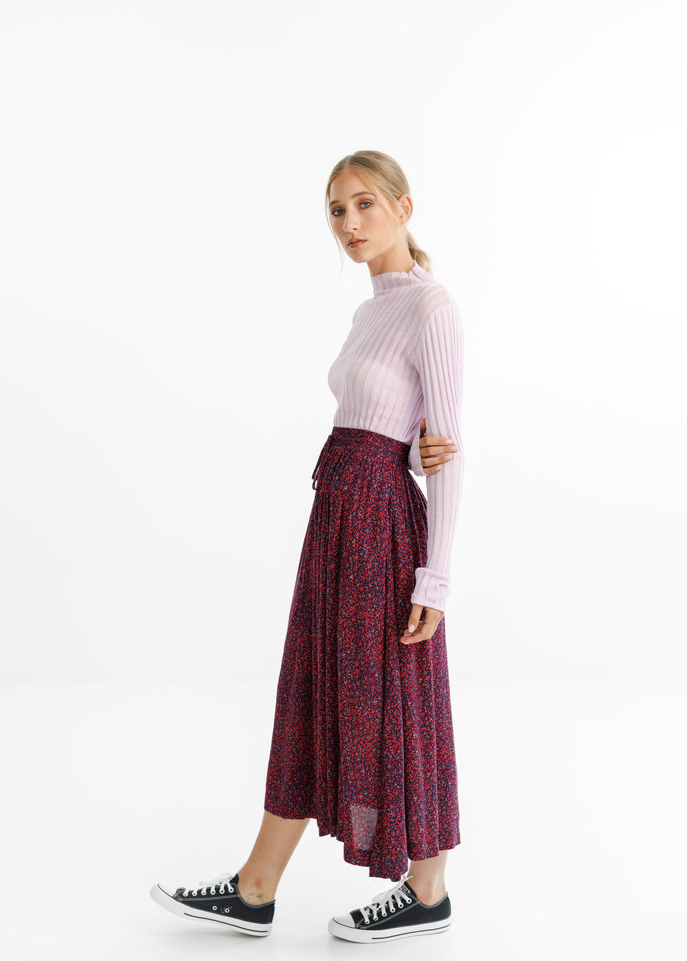 MYSTIC SKIRT - Ditsy Red