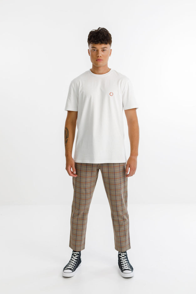ALPHA PANT - Taupe Plaid
