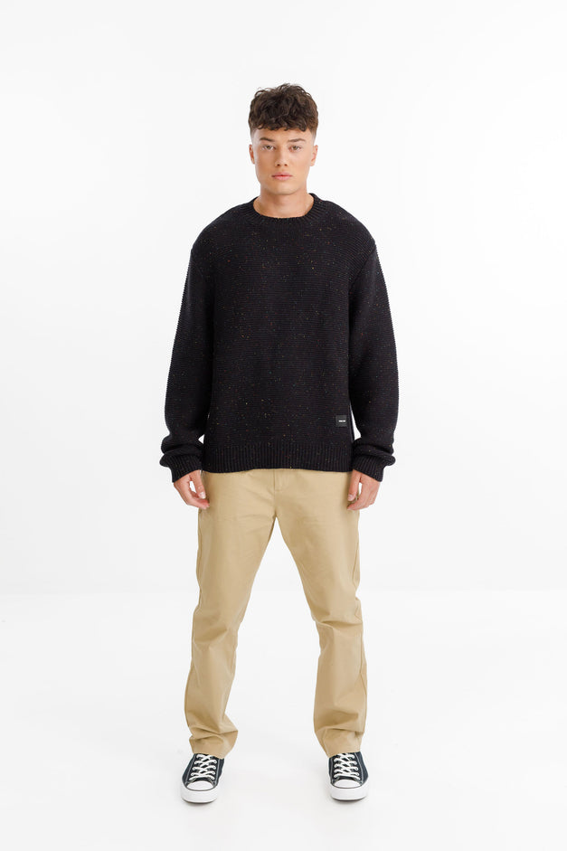 ATTIC SWEATER - Black Fleck