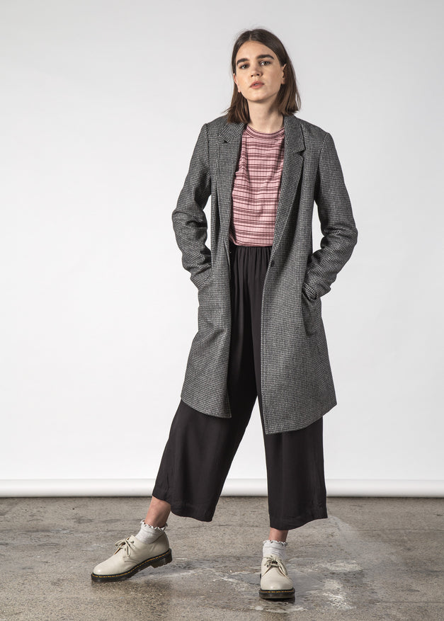 FLOSS COAT HOUNDSTOOTH