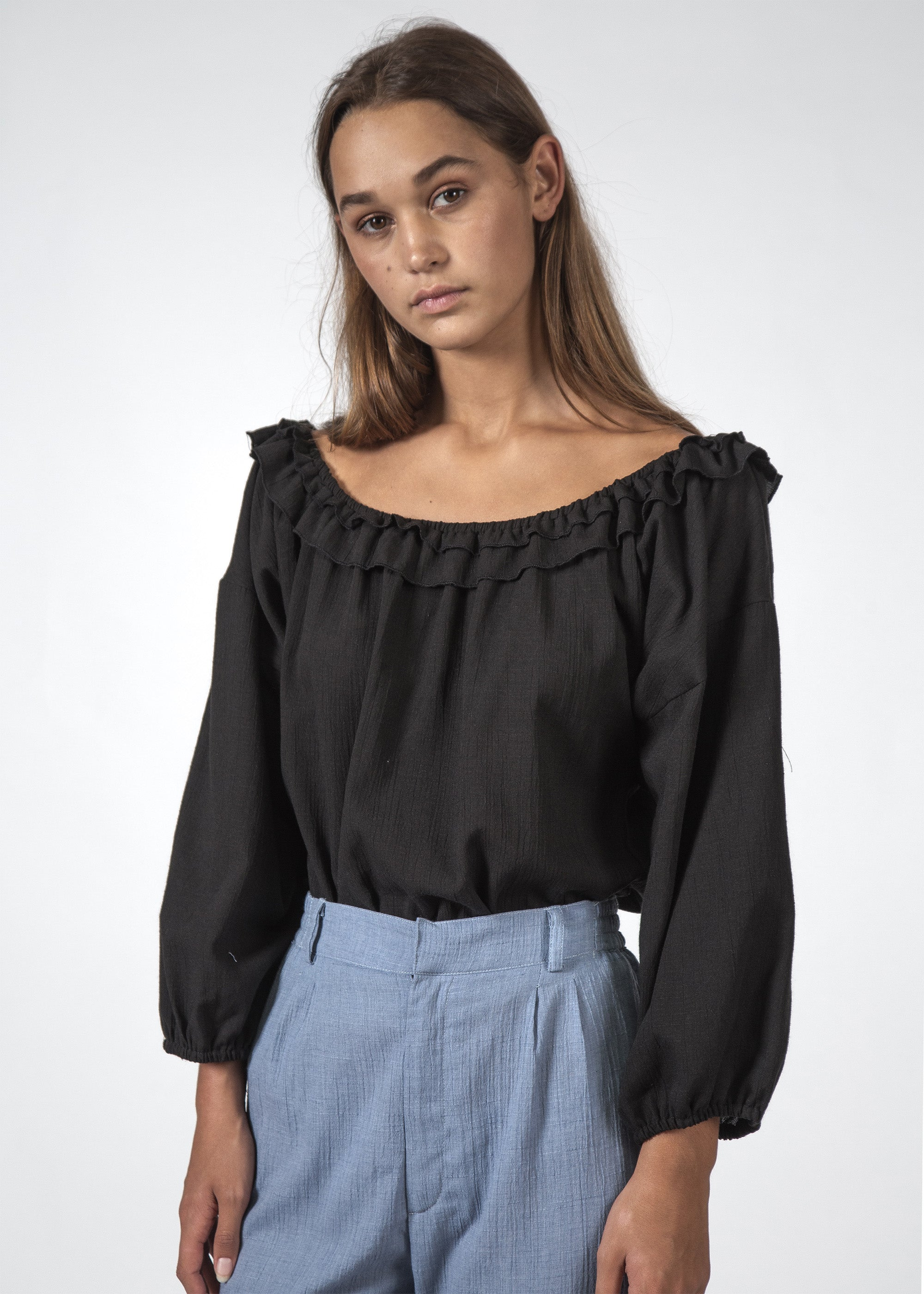 THE HARPER TOP BLACK