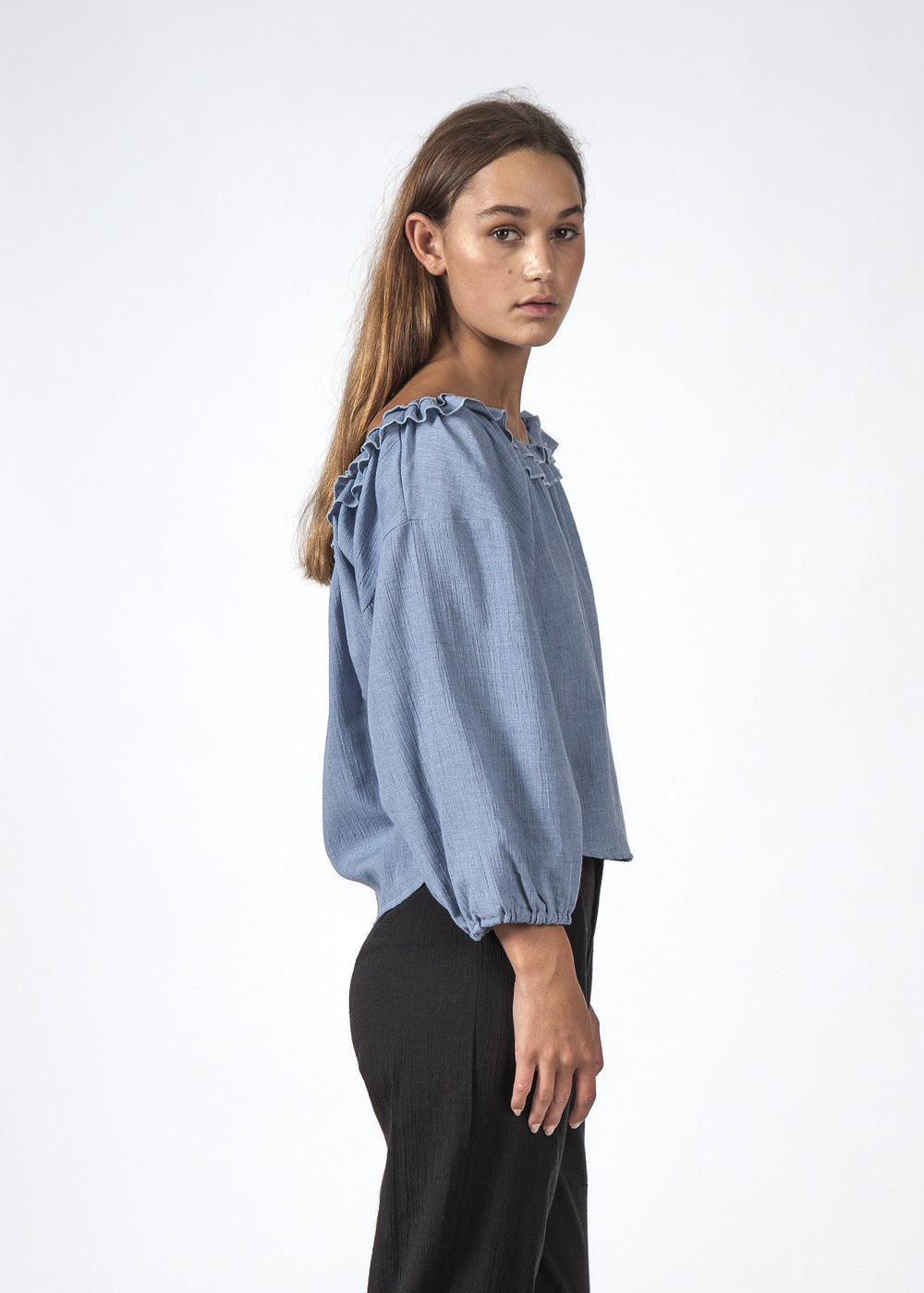 THE HARPER TOP CHAMBRAY