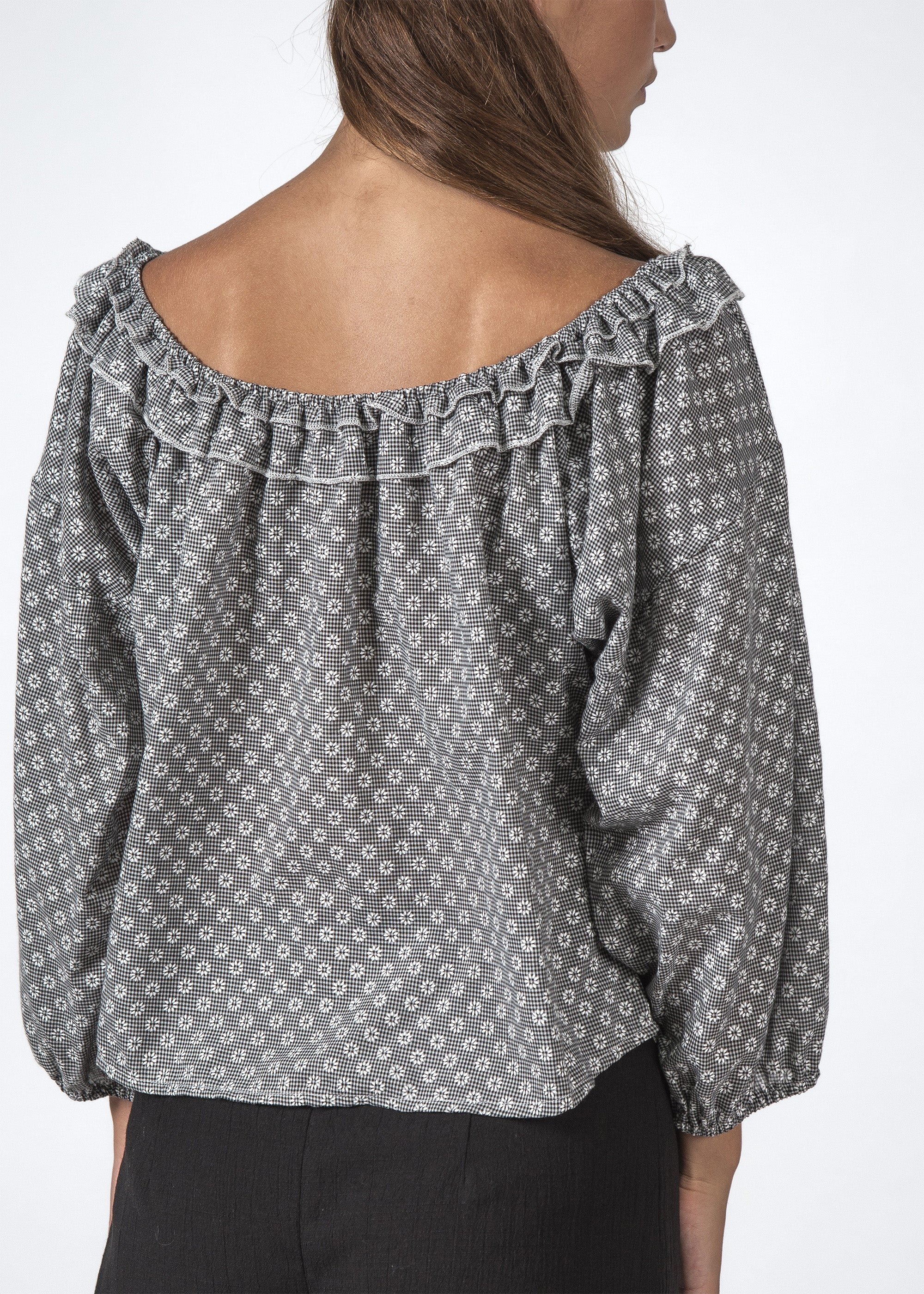 THE HARPER TOP DAISY CHECK