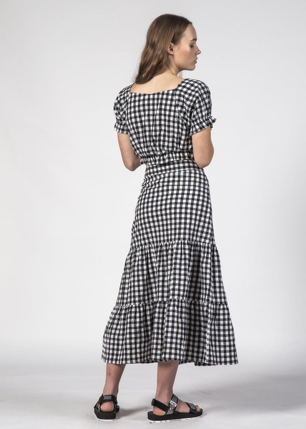 NICO TOP BLACK GINGHAM