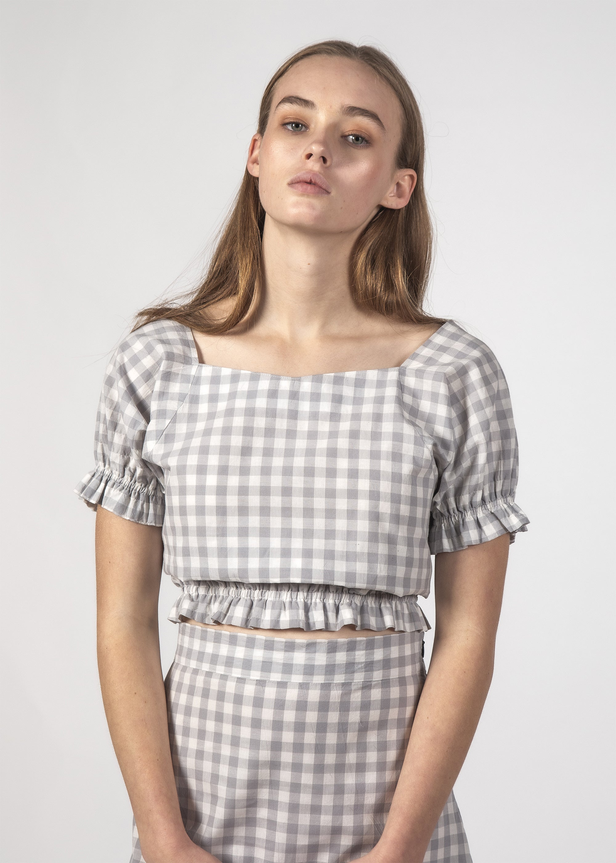 NICO TOP SKY GINGHAM