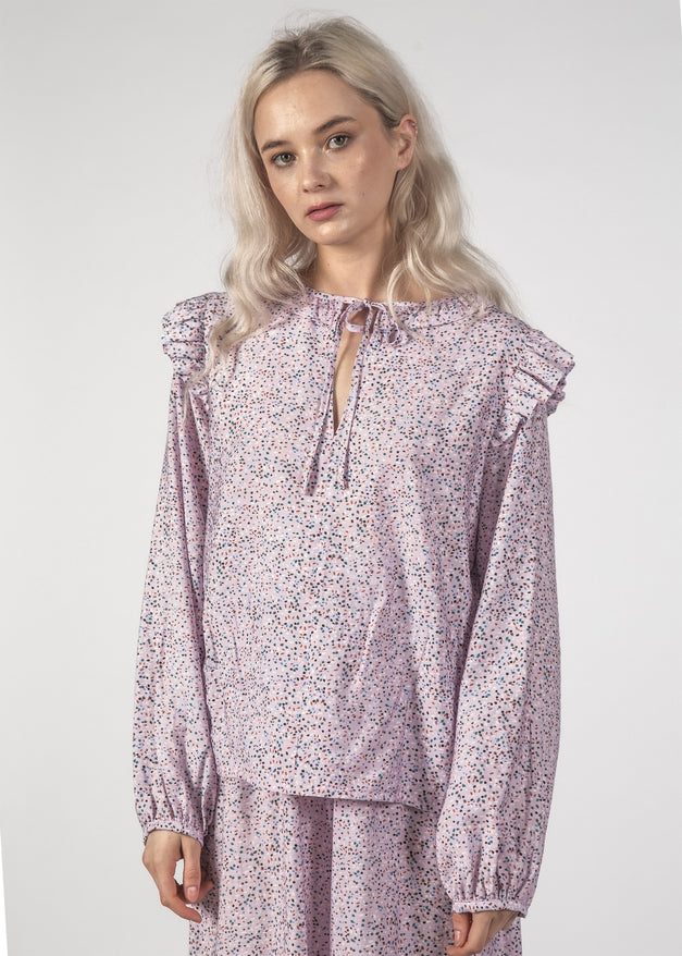 SALE - LA LA TOP - Lilac Speckle