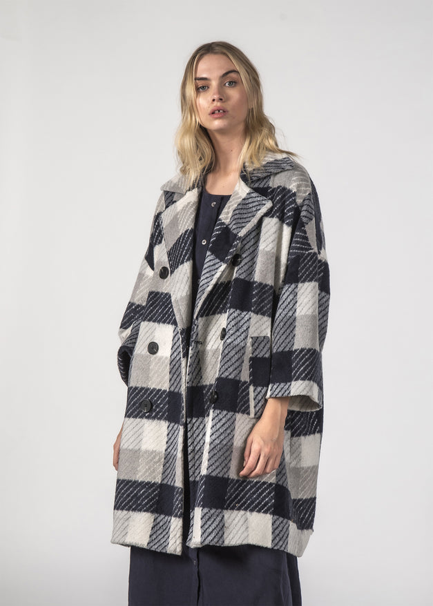 TRIXIE COAT - GREY CHECKS