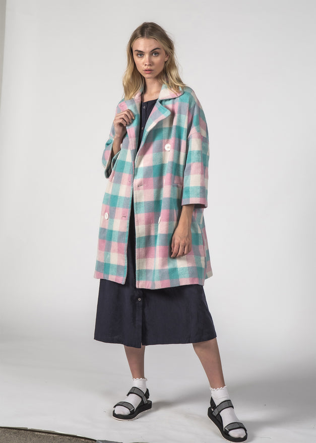 TRIXIE COAT - PASTEL CHECK