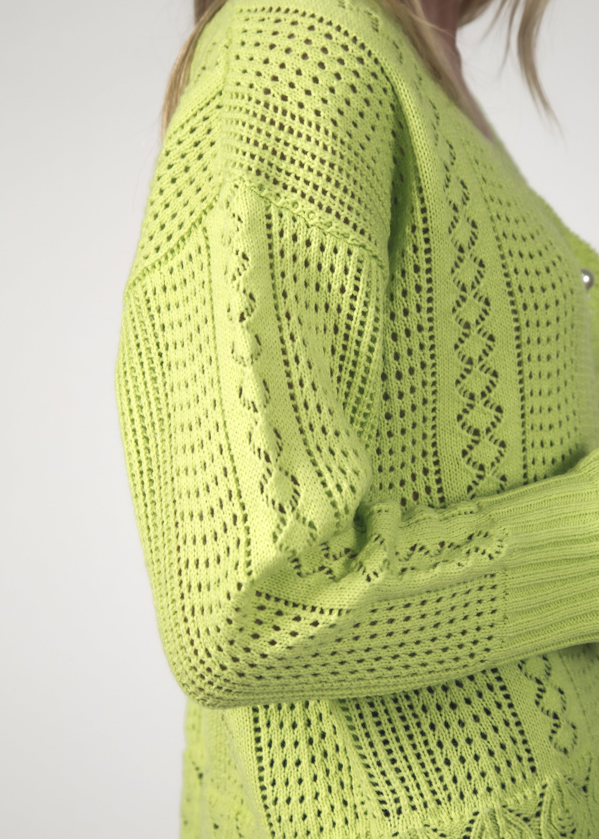 THE FLING CARDIGAN - LIME