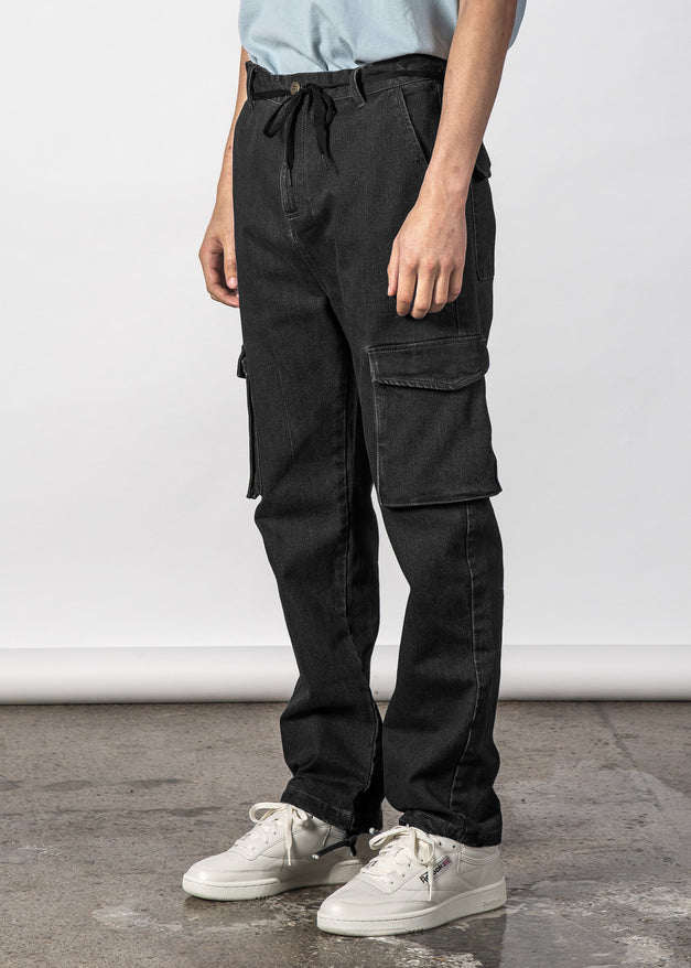 Field Jean Black Wash