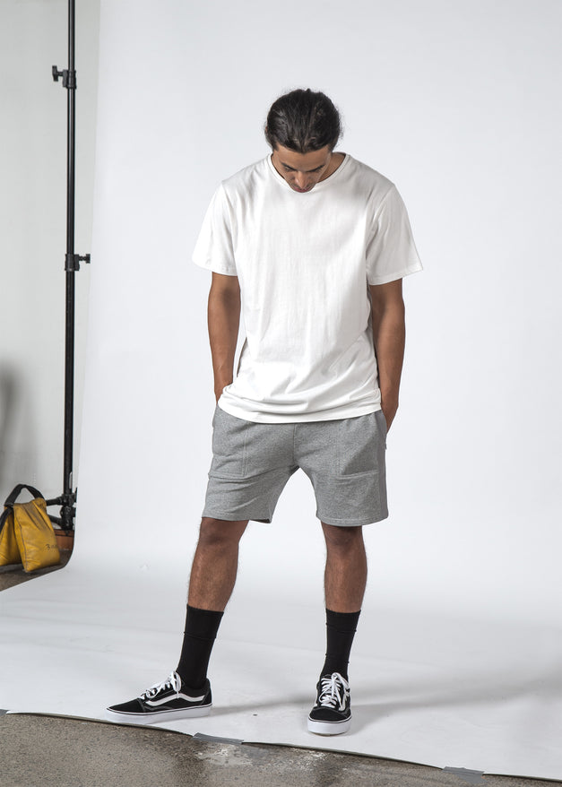 THE KILO TRACK SHORT GREY MARL