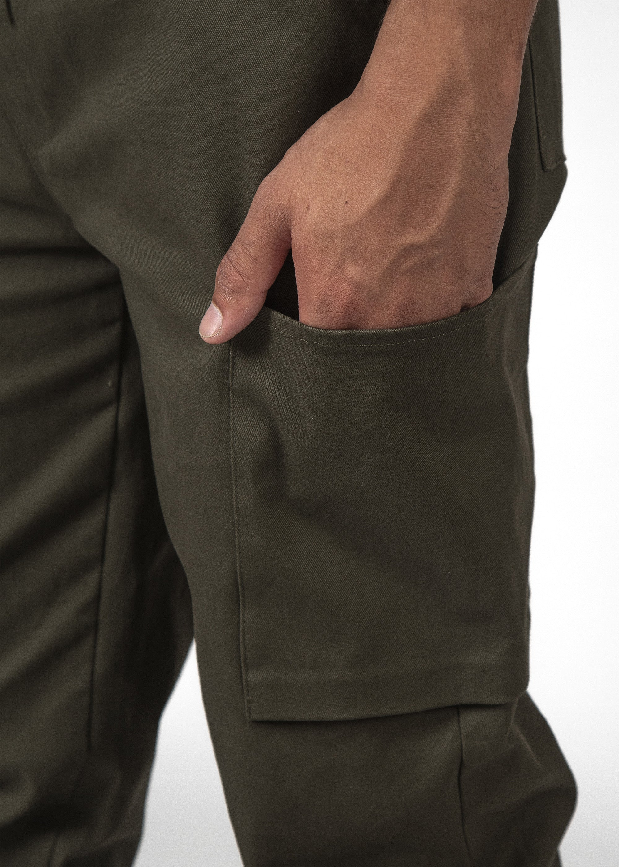 THE STOW PANT DARK ARMY