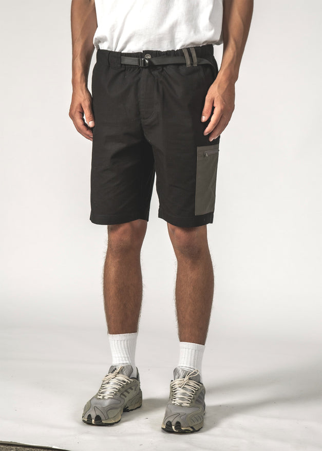 VISTA SHORT - Black Ripstop