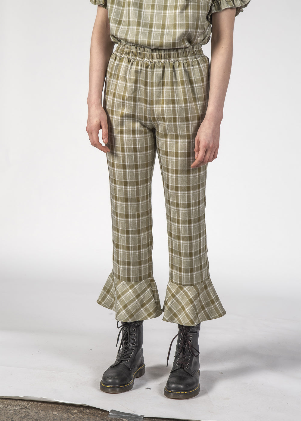 DAZZLE PANT - OLIVE CHECK