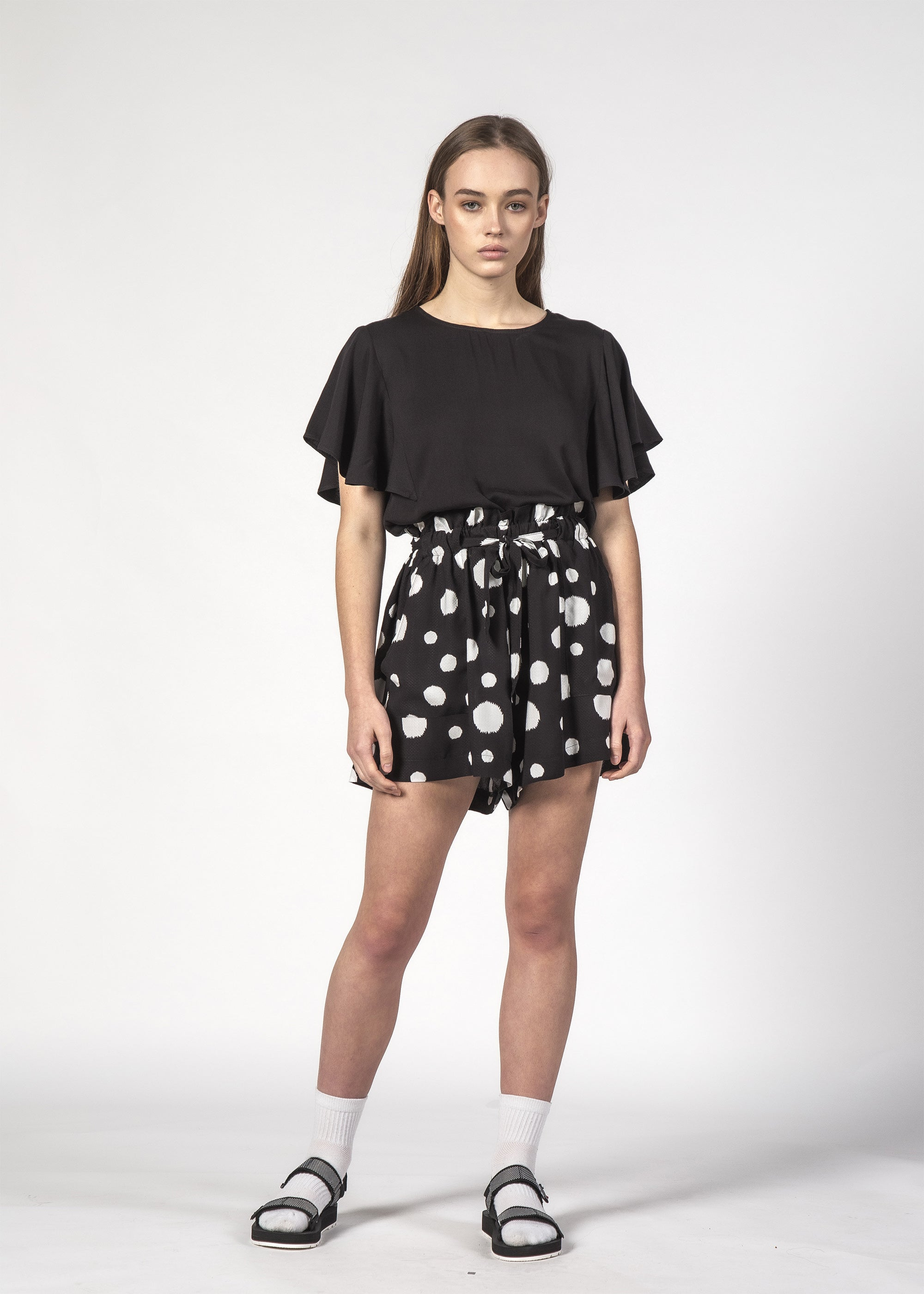WONDER SHORT BLACK DOTTY