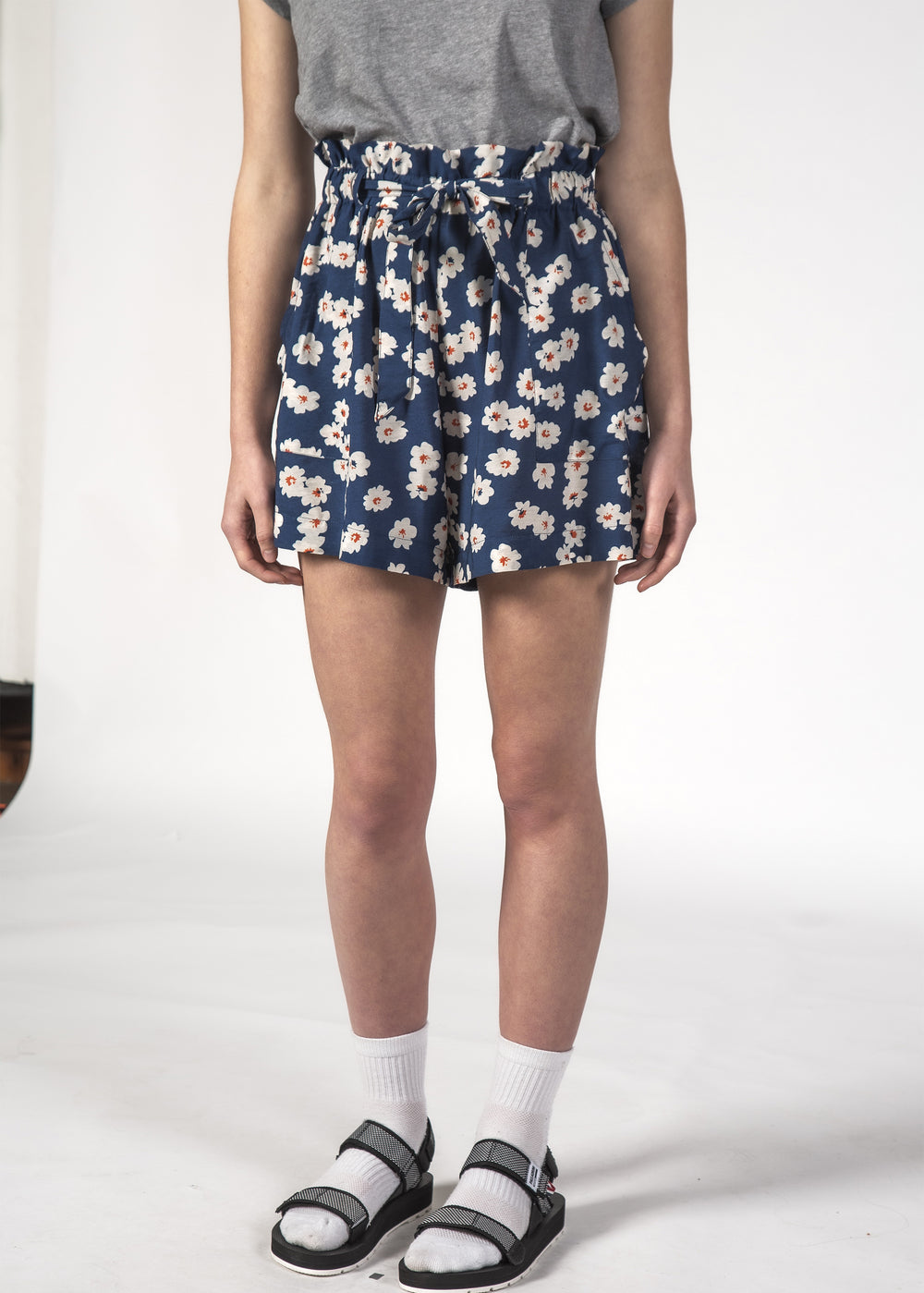 WONDER SHORT NAVY BLOOM