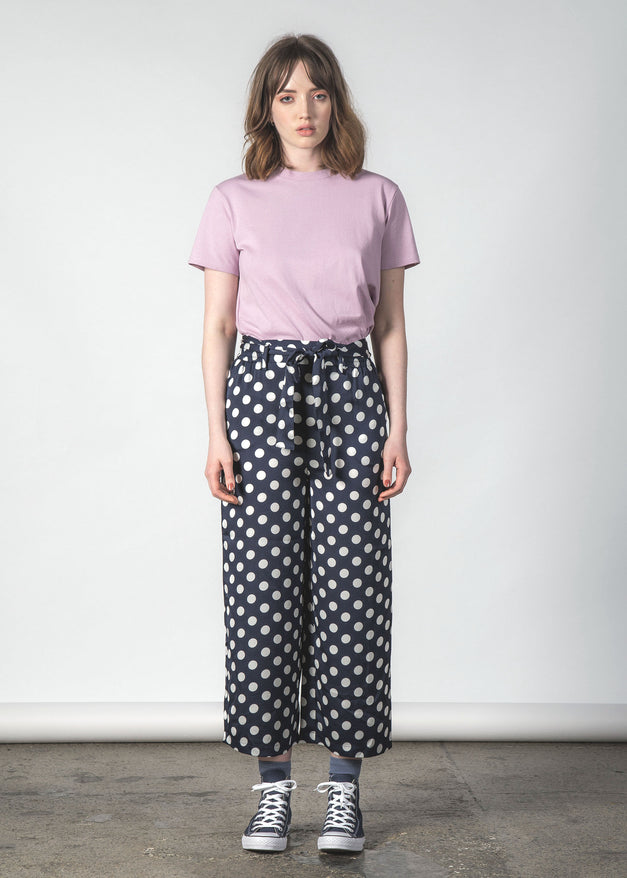FLUSH PANT NAVY POLKA DOT