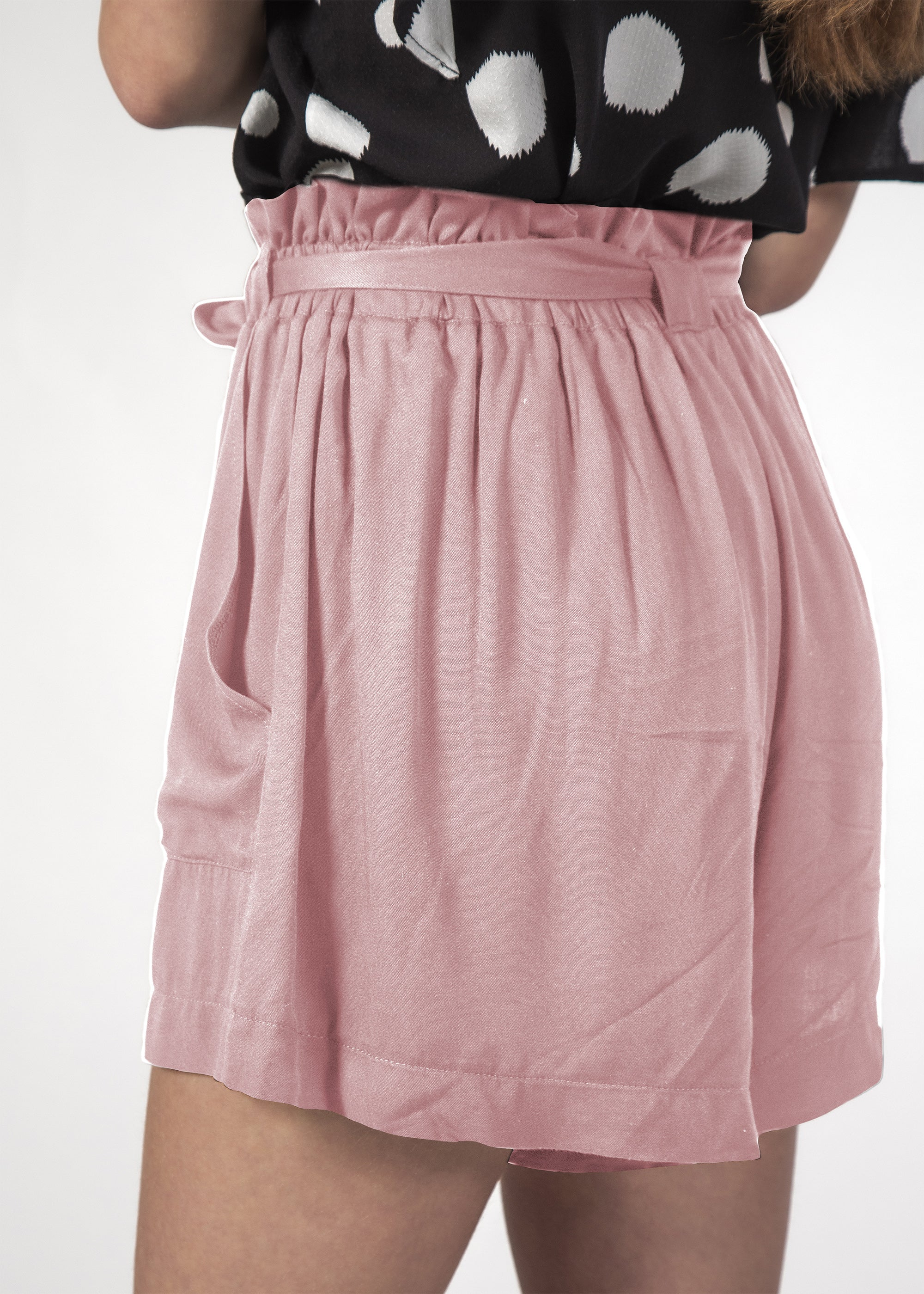 WONDER SHORT BLUSH LINEN