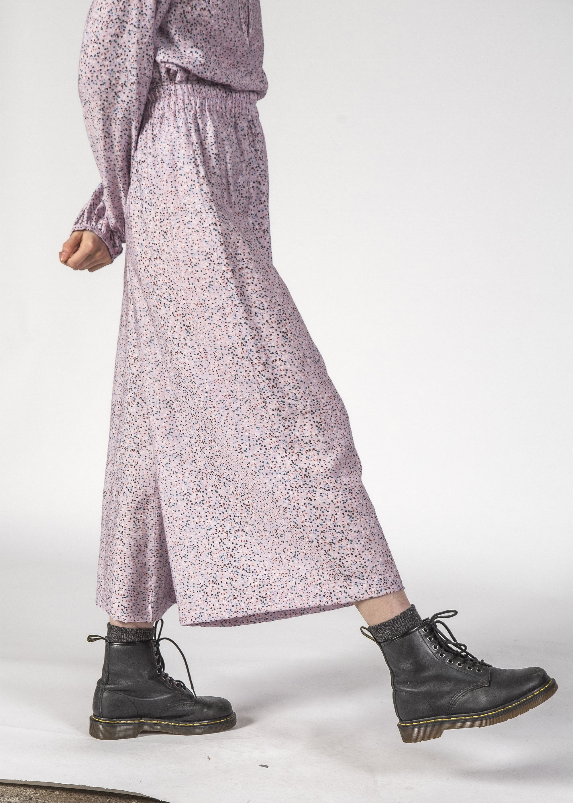 COCO PANTS - Lilac Speckle