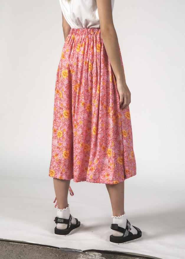 THE TWIRL SKIRT - FLORAL PINK