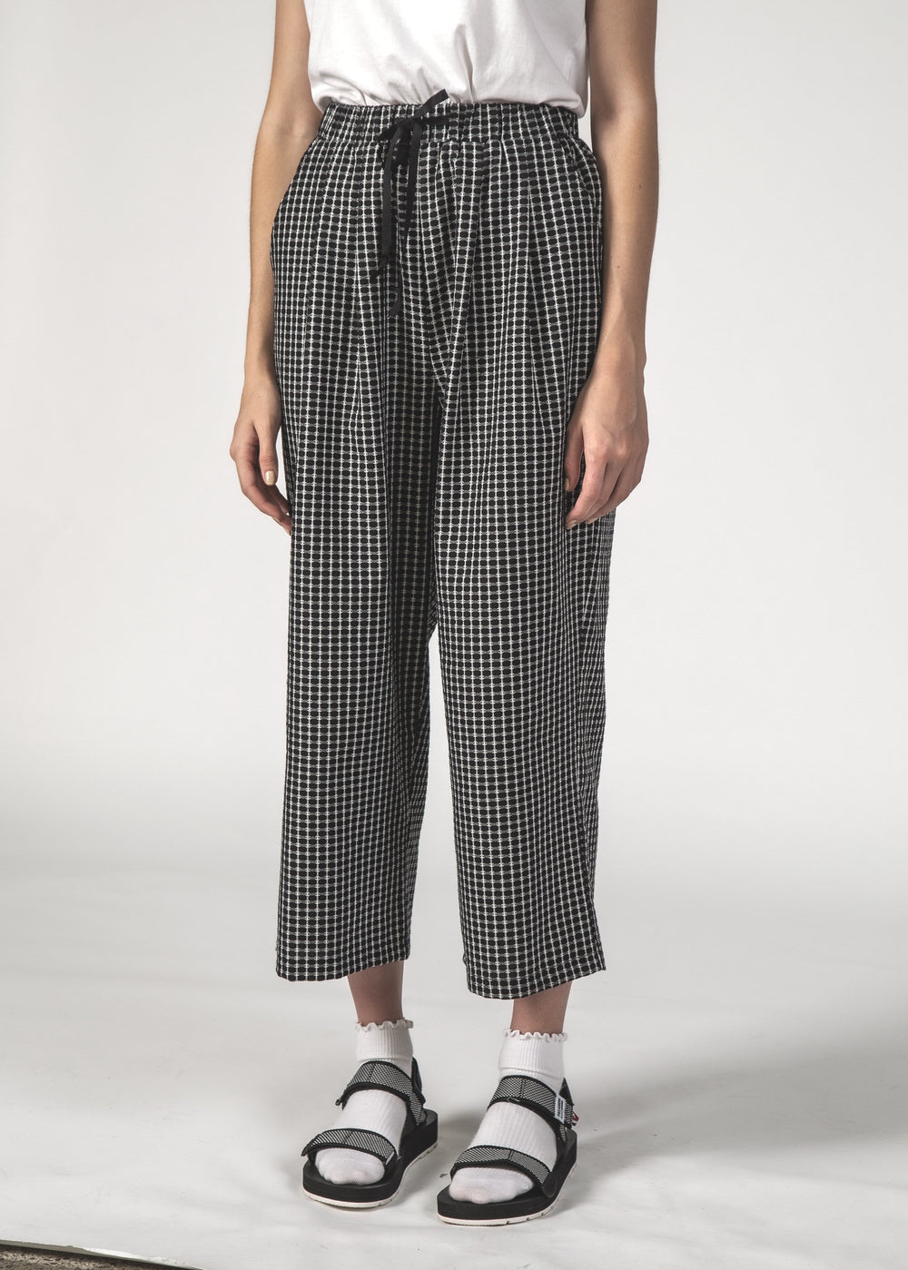 SALE - CRUISE PANT - Black Crosshatch