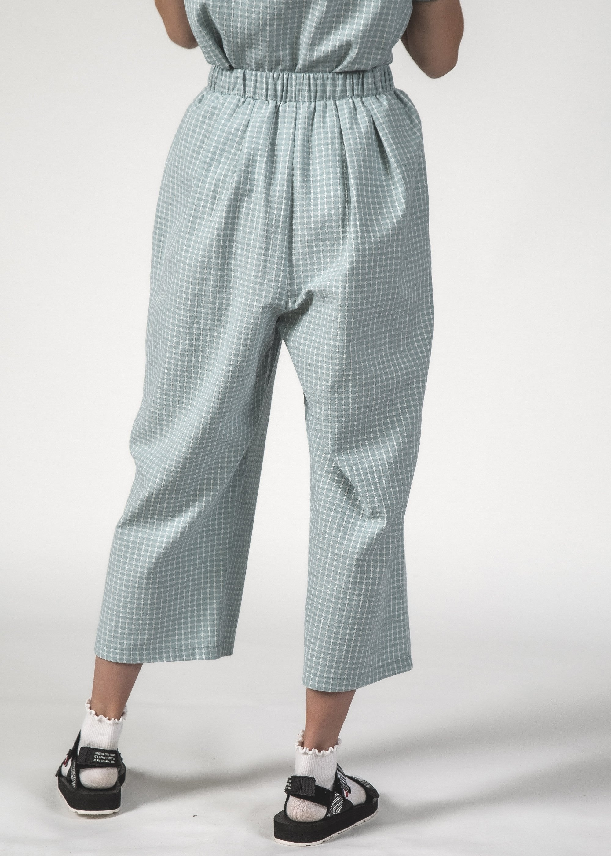 SALE - CRUISE PANT - Sky Crosshatch