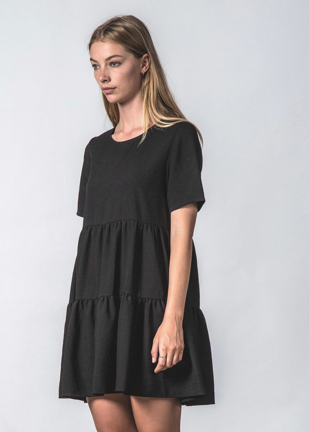 UNDERCOVER DRESS DRAPEY BLACK