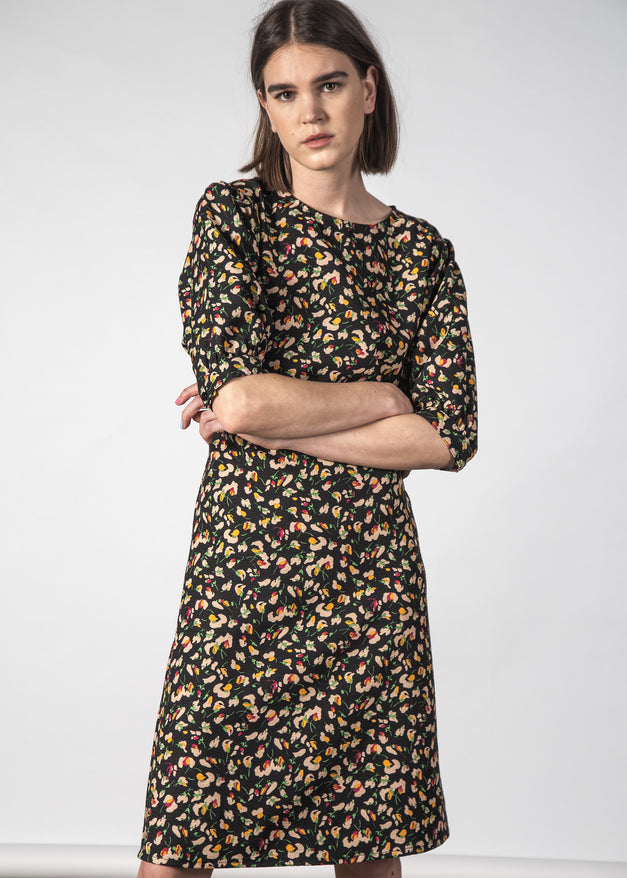 MOON DRESS PICNIC FLORAL