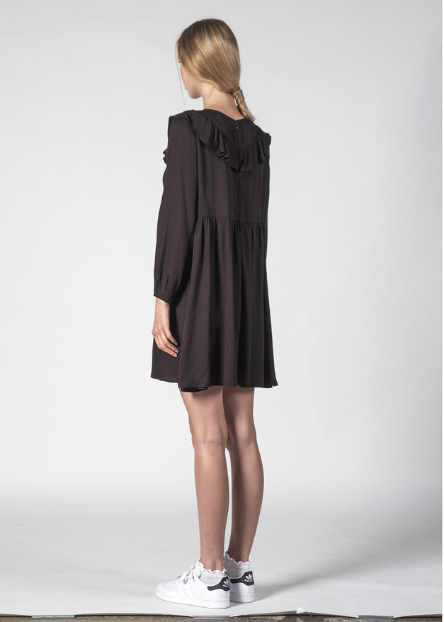TERRY DRESS BLACK
