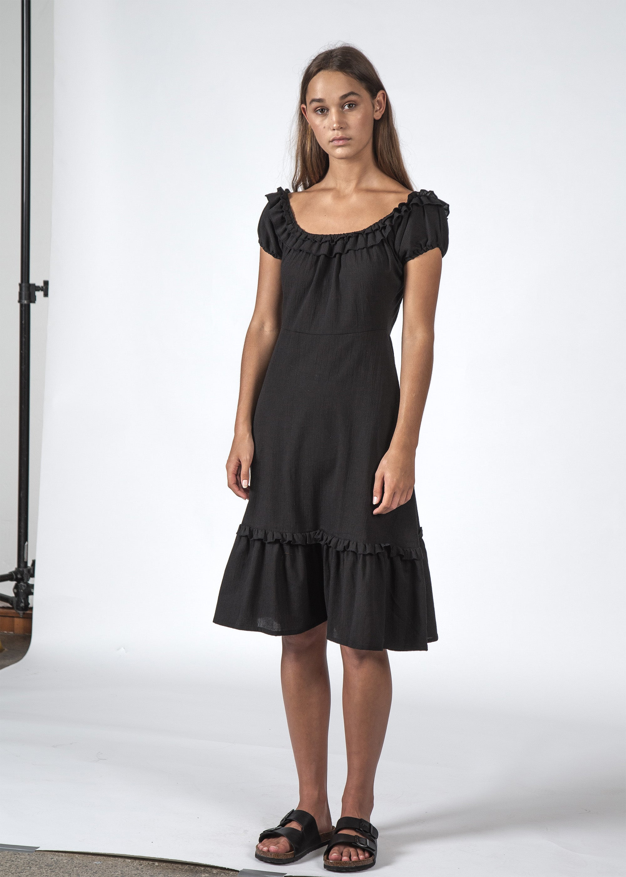 THE SUNSET DRESS BLACK
