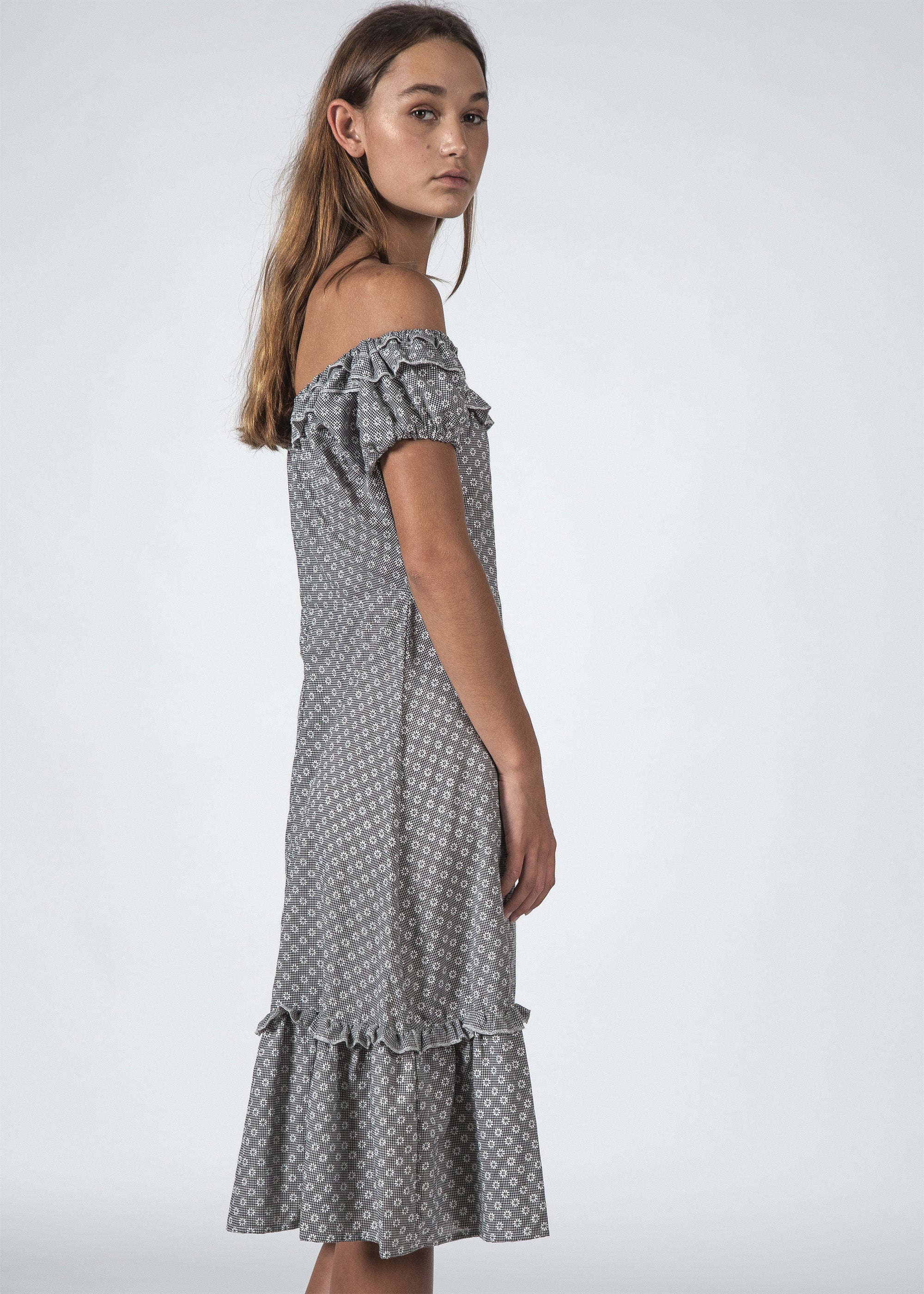 THE SUNSET DRESS DAISY CHECK