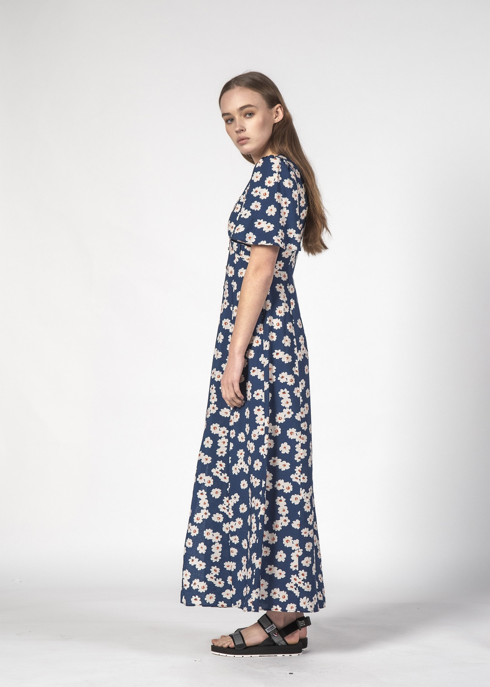 SALE - LYDS DRESS - Navy Blooom
