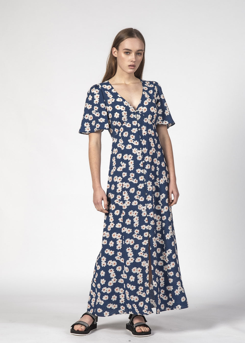 LYDS DRESS NAVY BLOOM