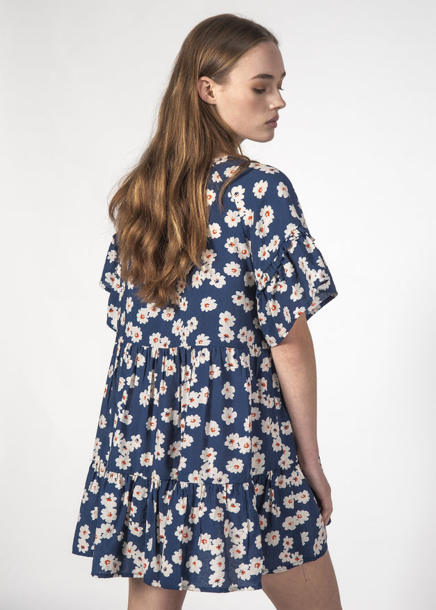PLAYFUL DRESS NAVY BLOOM