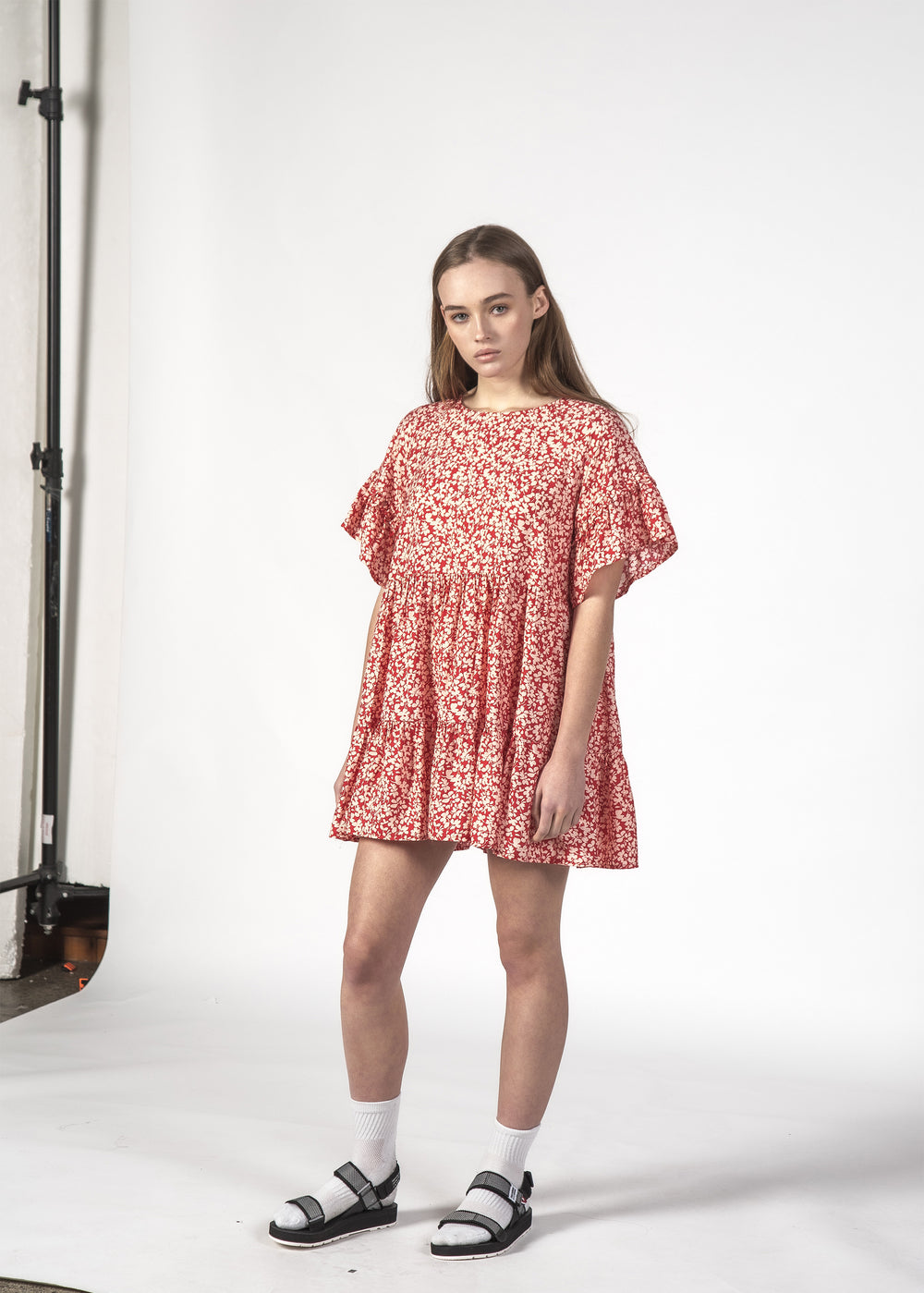 PLAYFUL DRESS RED DITSY