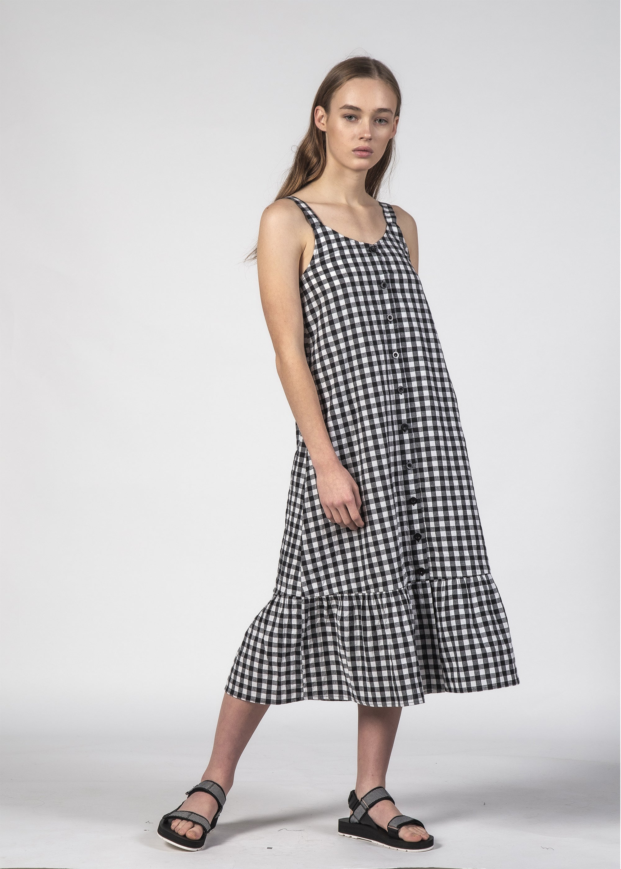 SUNKISS DRESS BLACK GINGHAM