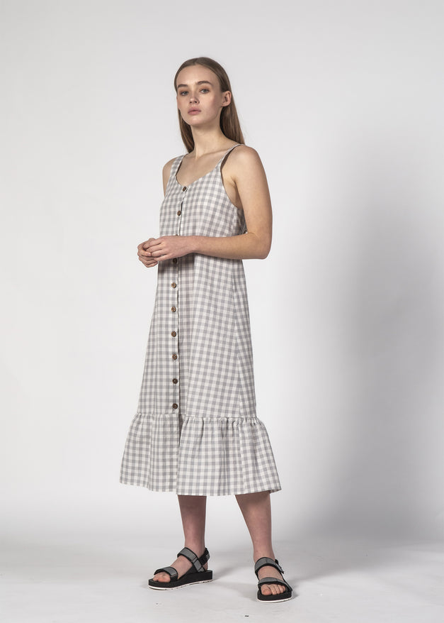 SUNKISS DRESS SKY GINGHAM