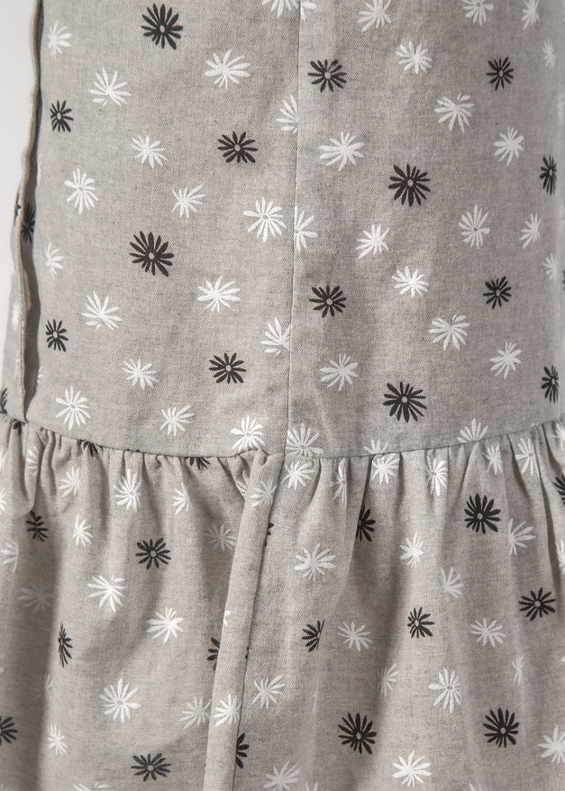 CASSIDY DRESS - GREY DAISY