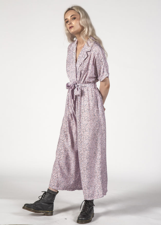 WILDCAT JUMPSUIT - LILAC SPECKLE