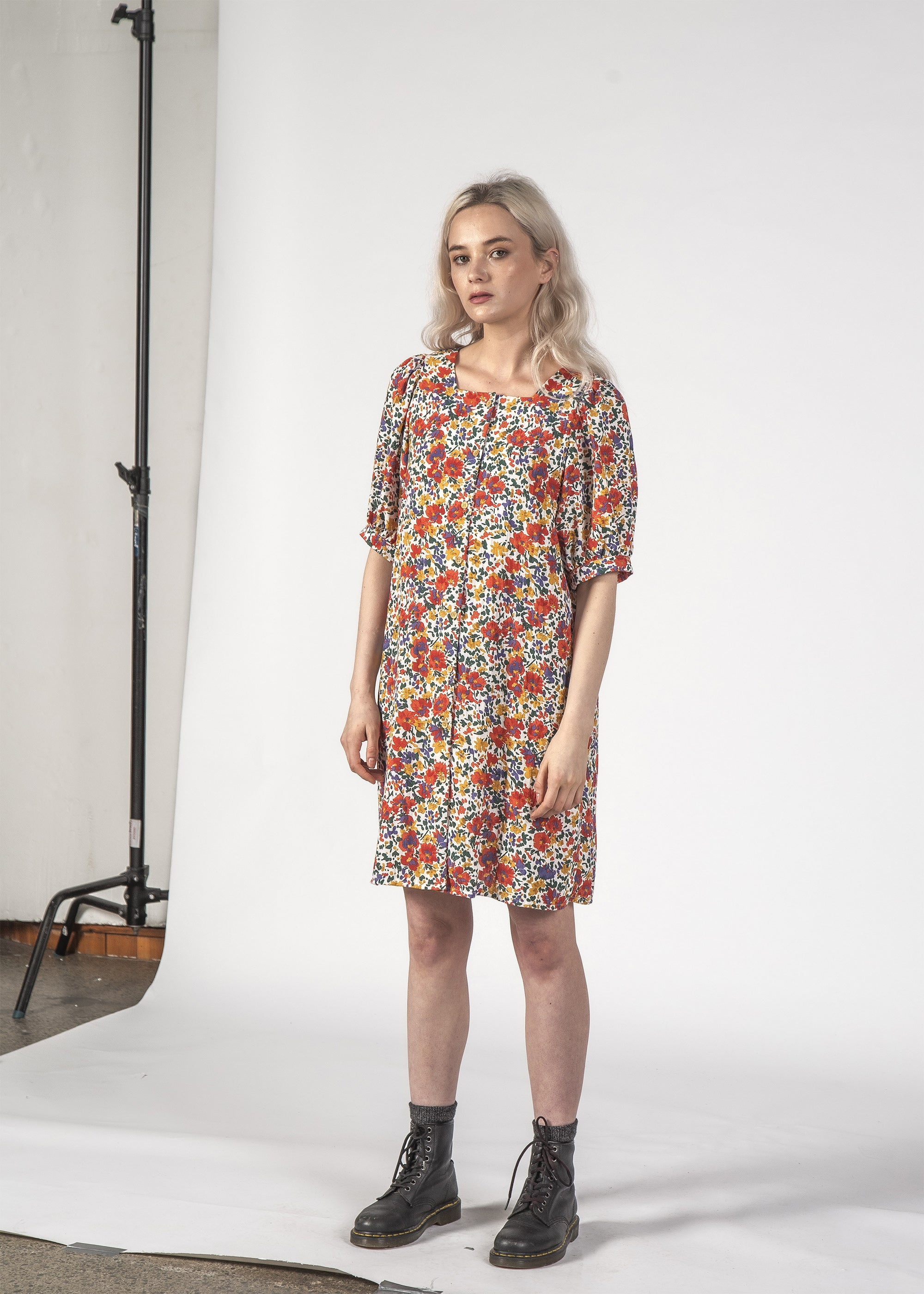 SMALL TALK DRESS - INKY FLORAL