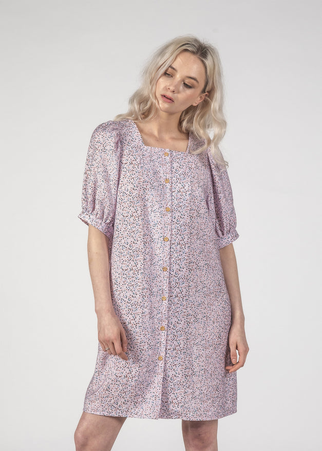 SMALL TALK DRESS - LILAC SPECKLE