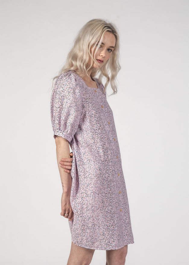 SALE - SMALL TALK DRESS - Lilac Speckle