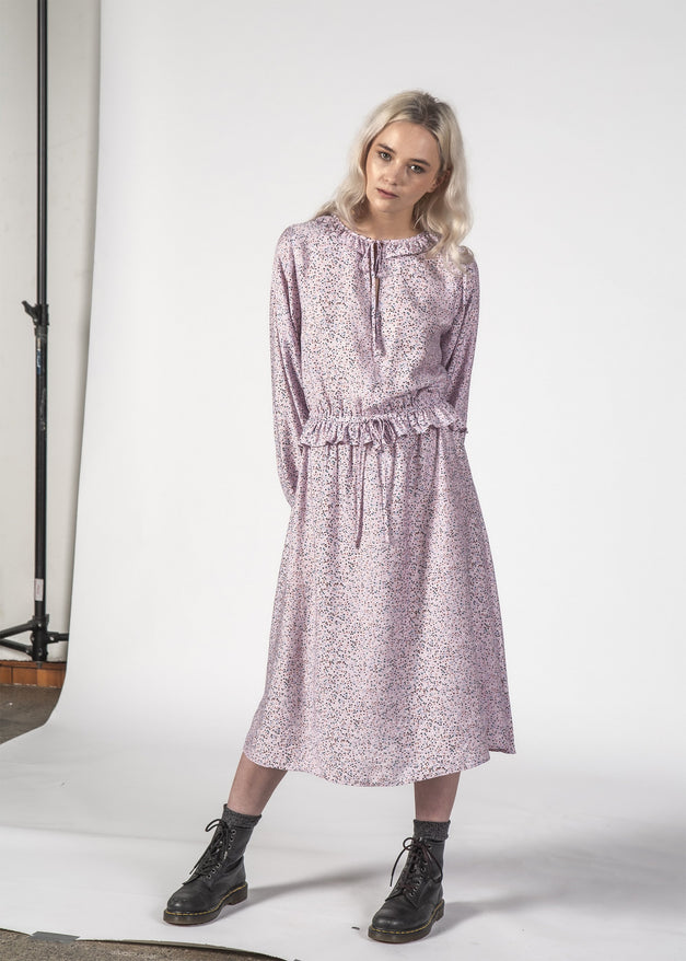 SALE - LA DI DA DRESS - Lilac Speckle