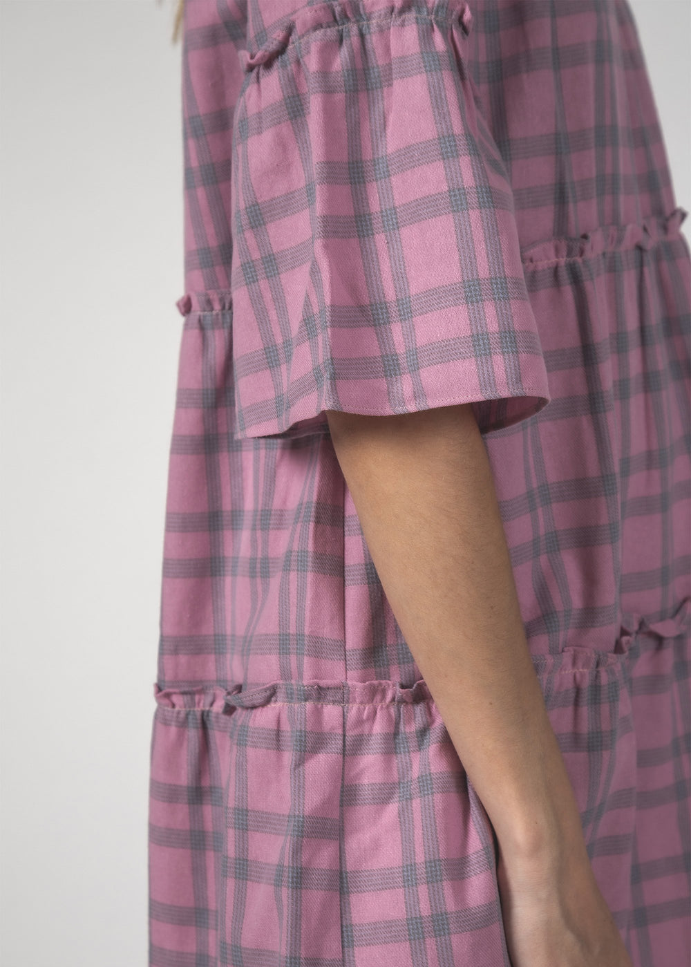EASYGOING DRESS - Blush Check