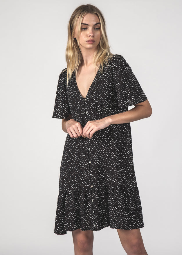 THE HAPPY TIMES DRESS - BLACK SPEC