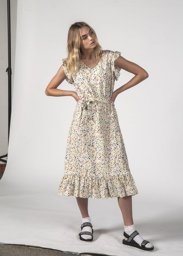 THE STELLA DRESS - INKY SPLAT