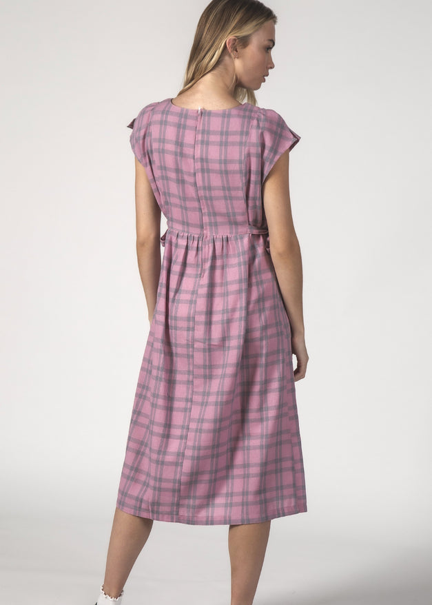 MARGOT DRESS - Blush Check