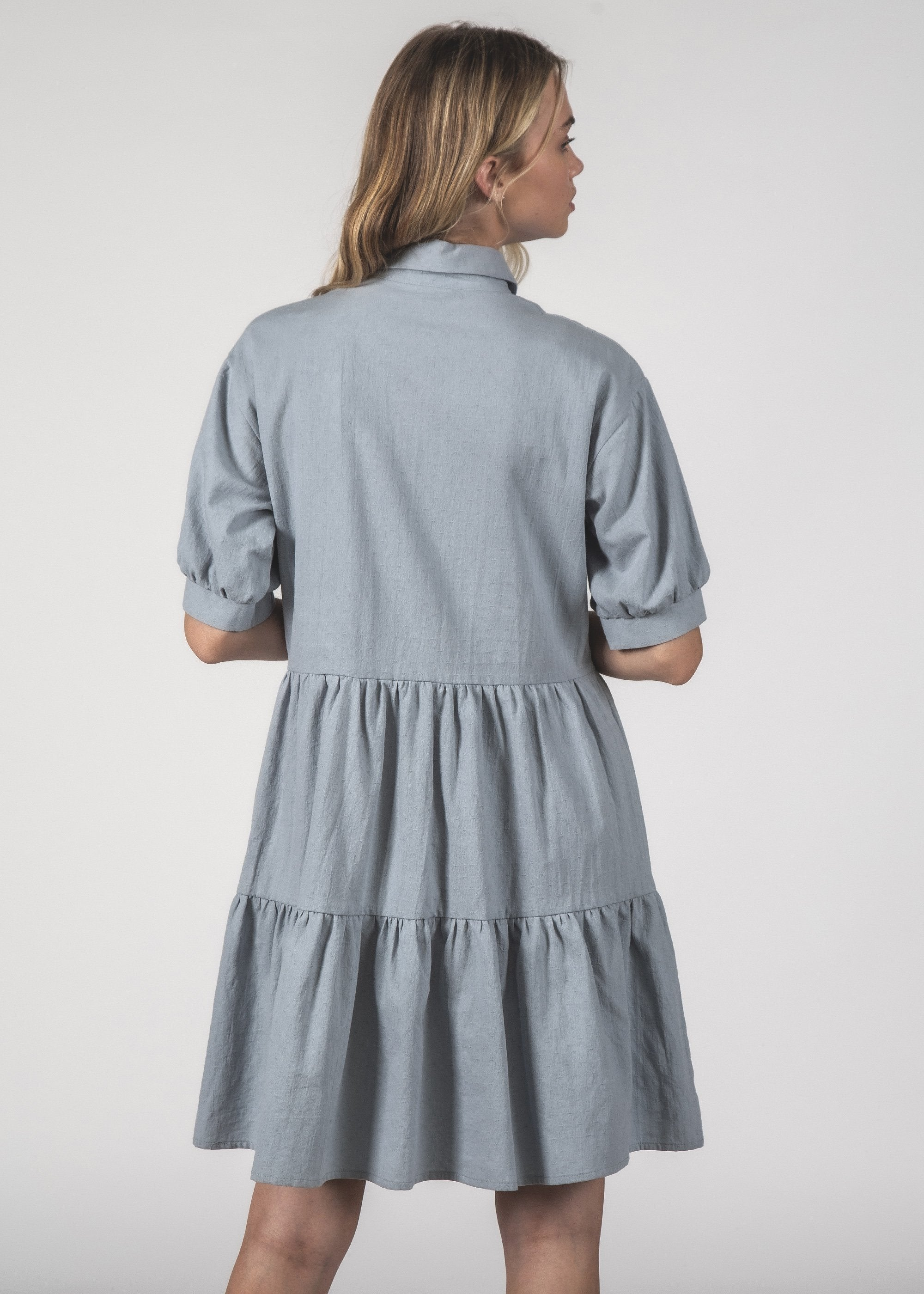 NOVA DRESS - Blue Crinkle