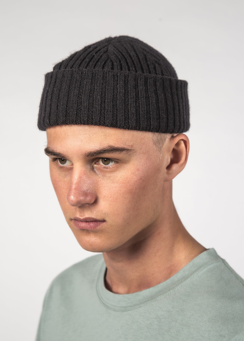 WOOL ACME BEANIE - BLACK